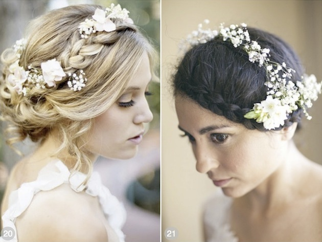 Fiori freschi acconciatura 2014 sposa9Wedding Hairstyles For Long Hair With Flowers Braid