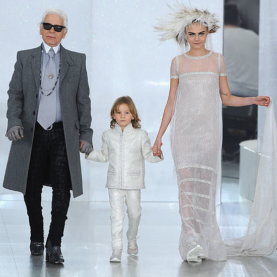 Karl Lagerfeld Cara Delevingne abito sposa 2014 Chanel Haute Couture