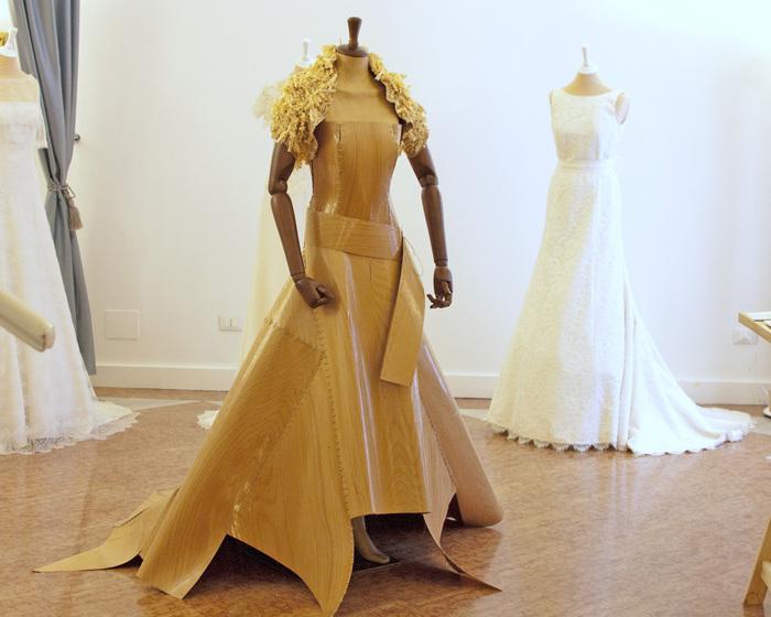 Fuorisalone 2014 abito sposa legno quercia Matthan Gori