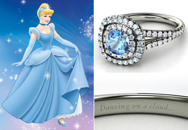 Anello fidanzamento Gemvara principessa Disney Cenerentola