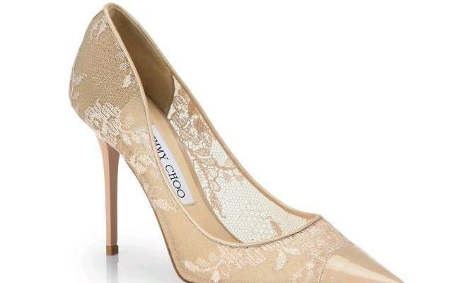9c622b719a3d8 Pizzo italiano rosa per le romantiche e femminili scarpe da sposa Jimmy Choo