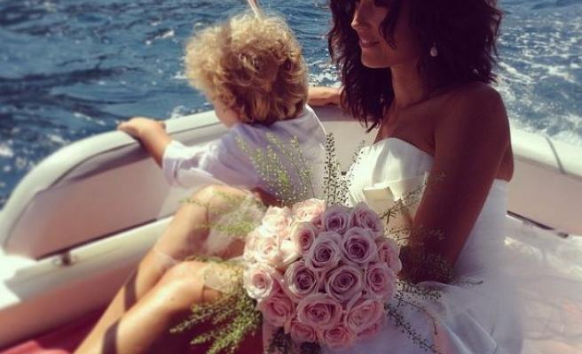 Il vestito da sposa di caterina balivo