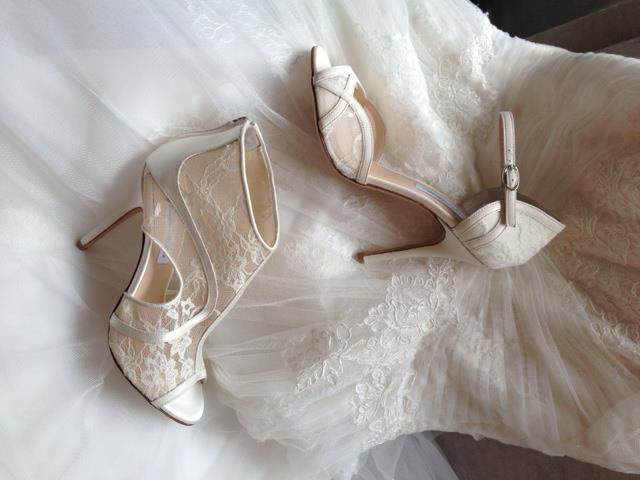 Scarpe Vintage Sposa.Pizzo E Vintage Per Le Scarpe Da Sposa Monique Lhuillier Look Sposa