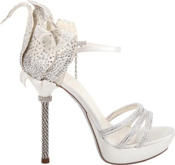 Loriblu 2014 scarpe sposa con fiore sul retro