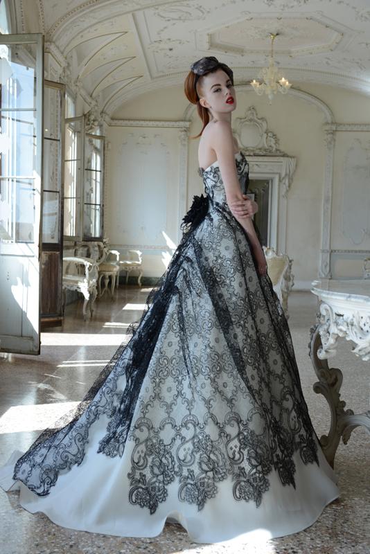 Vestito da sposa bianco nero  Blog su abiti da sposa Italia