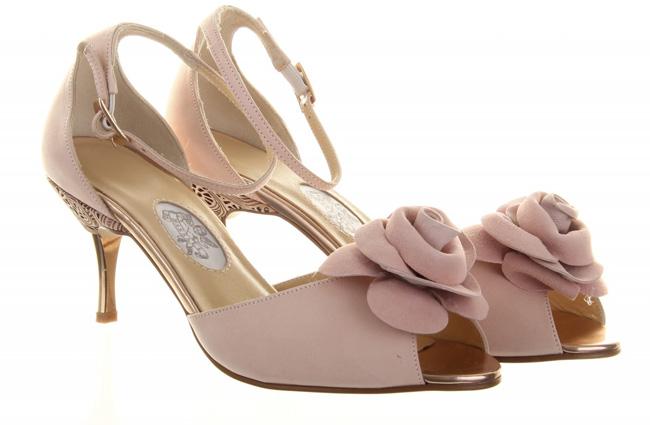 Sugar Plum by Diane Hassall scarpe sposa rosa con fiori