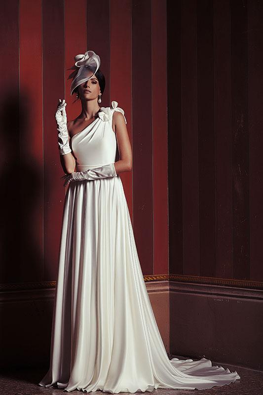 Abito sposa peplo vintage collezione 2015 Maison by Look Sposa