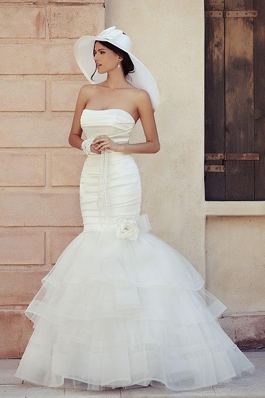 Mermeid dress abito sposa direna collezione Maison 2015 Look Sposa