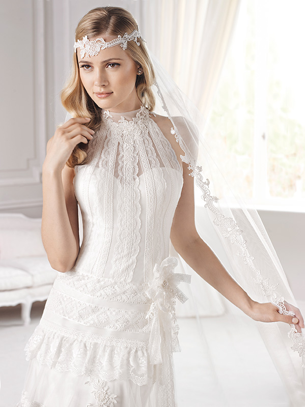 Acconciatura accessori capelli Anni Ruggenti La Sposa Pronovias 2015