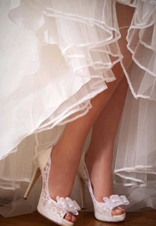 Scarpe sposa pizzo Penrose1