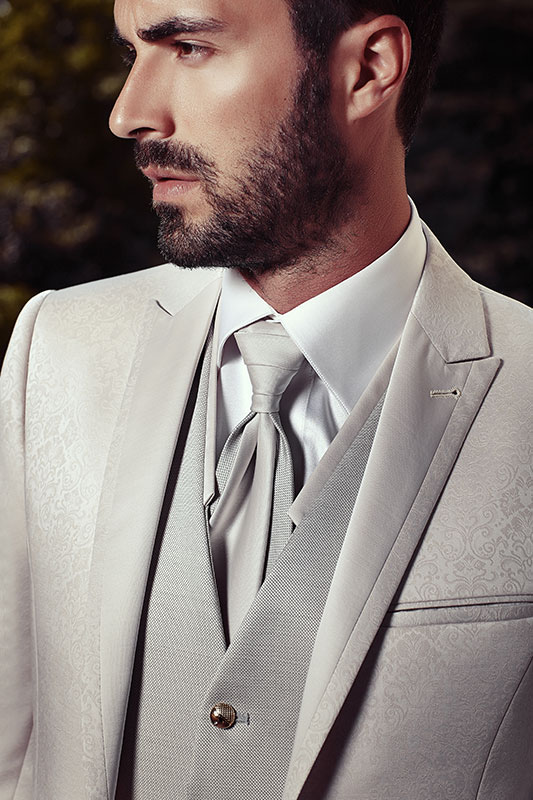 Abiti da cerimonia uomo grigio perla