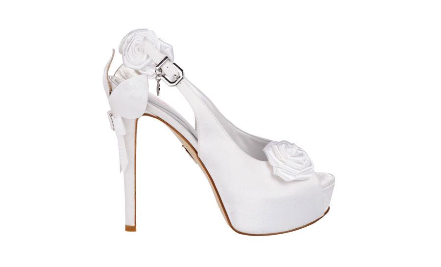 Ferracuti scarpe sposa 2015 modello slingback