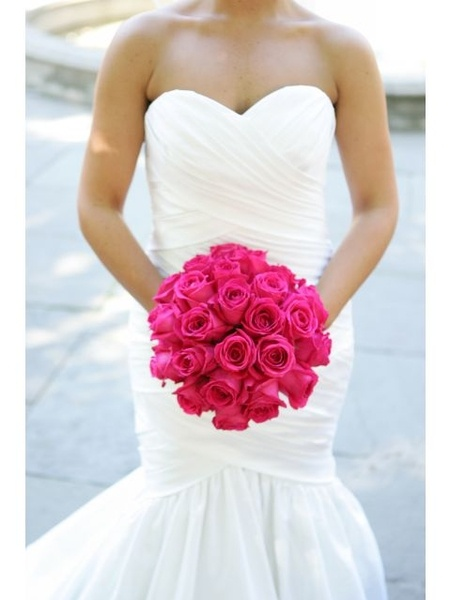 Bouquet Sposa Fucsia.Bouquet Sposa Rose Fucsia Look Sposa