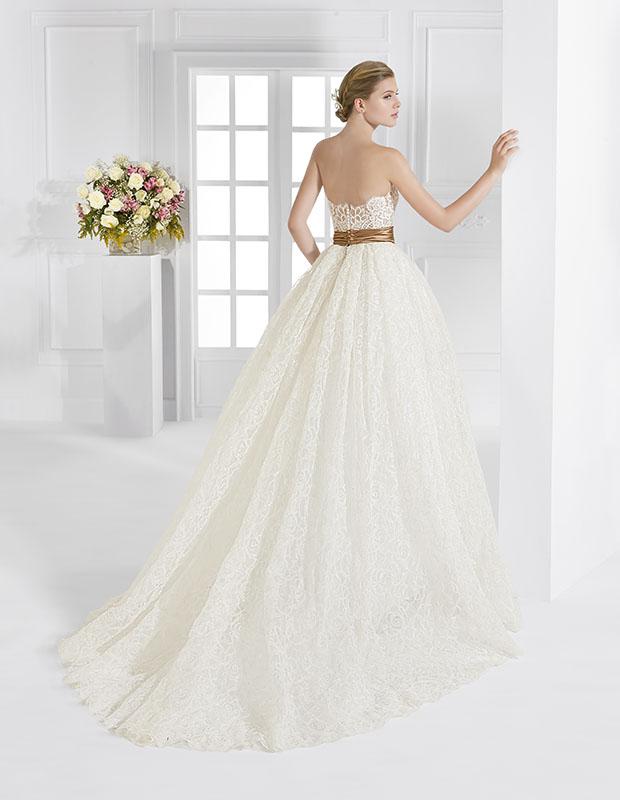 Abito sposa AV100 ball gown cintura contrasto collezione Fiori 2016 Patricia Avendano1