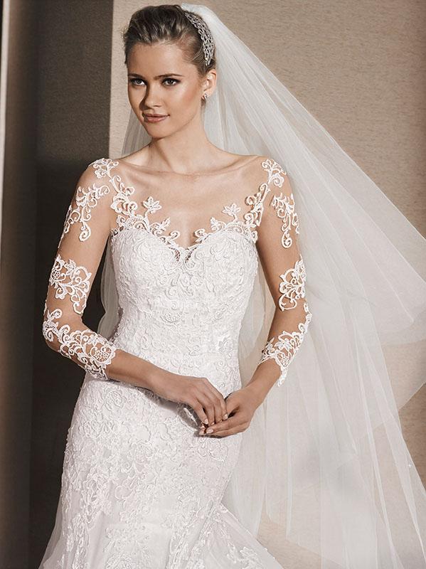 0641ef318411 Vestiti sposa tattoo 2016 esempio La Sposa by Pronovias