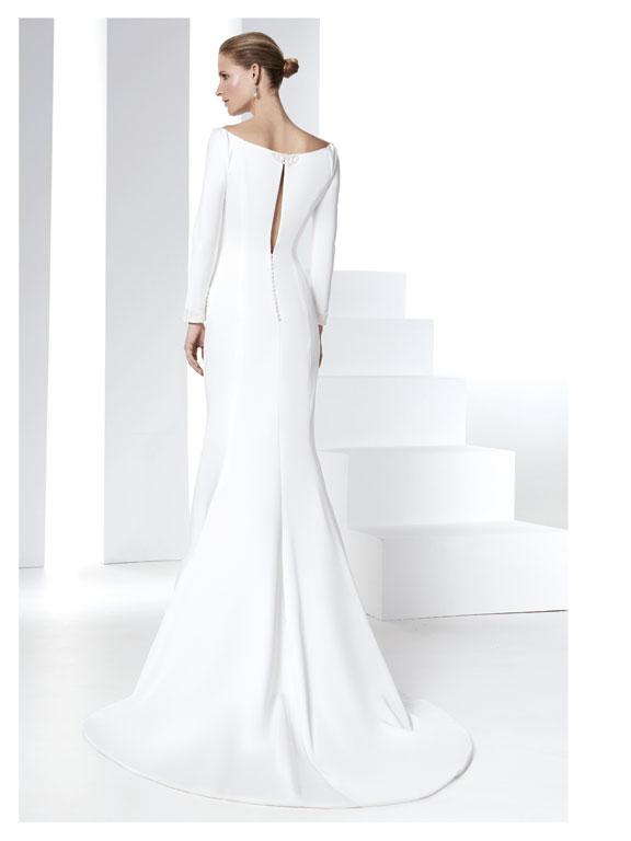 Vestito sposa 2016 minimal chic Raimon Bundo modello RB401 Parma1