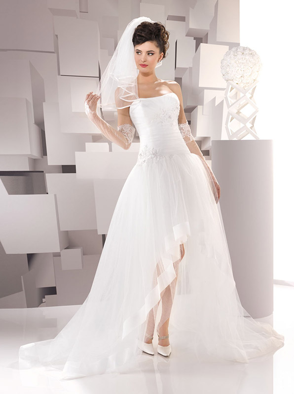 Vestito sposa asimmetrico collezione Just For You 2016