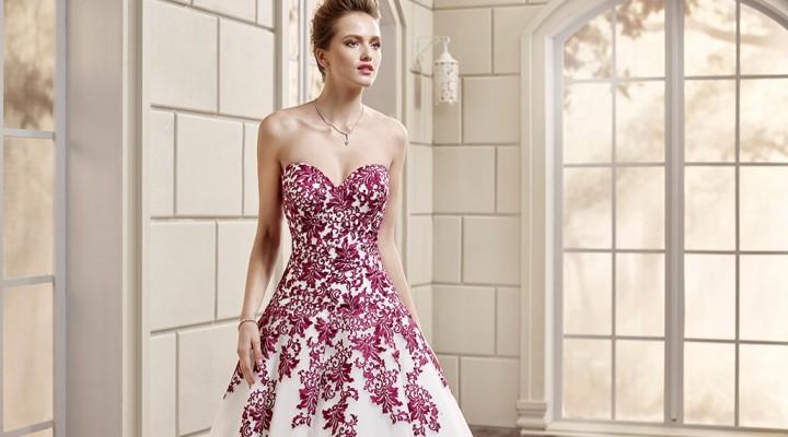 Atelier Look Sposa   romantico abito colorato ED221 dalla collezione Eddy K  2016 8acb5ca6fa4