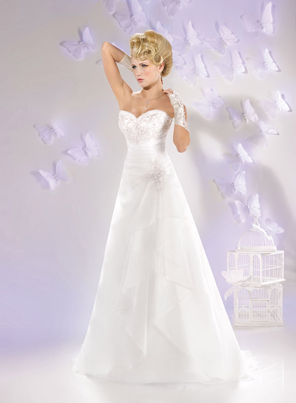 Look Sposa Montecchio Precalcino abito A-line  GI316 Just for You 2016