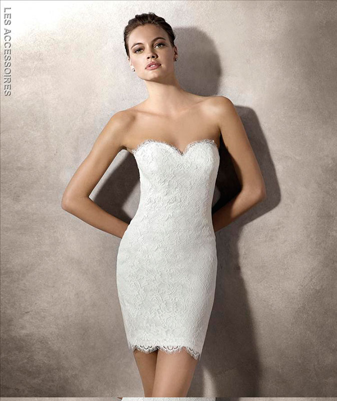 Look Sposa minidress 2016 Pronovias La Sposa
