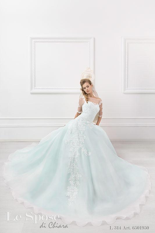 Vestiti sposa 2016 azzurro Serenity e verde Tiffany