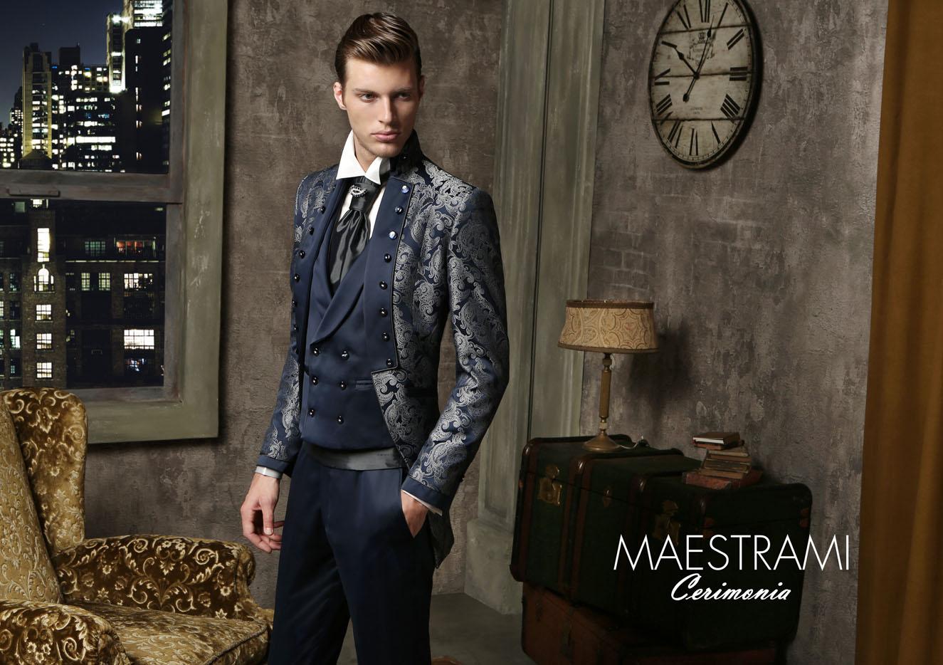 Atelier Look Sposa completo sposo damascato MC119 collezione 2016 Maestrami Cerimonia