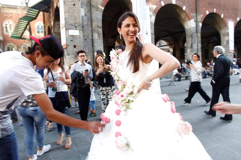 Abito sposa pasticceria Roberto Cantolacqua collezioni 2017 Delsa1