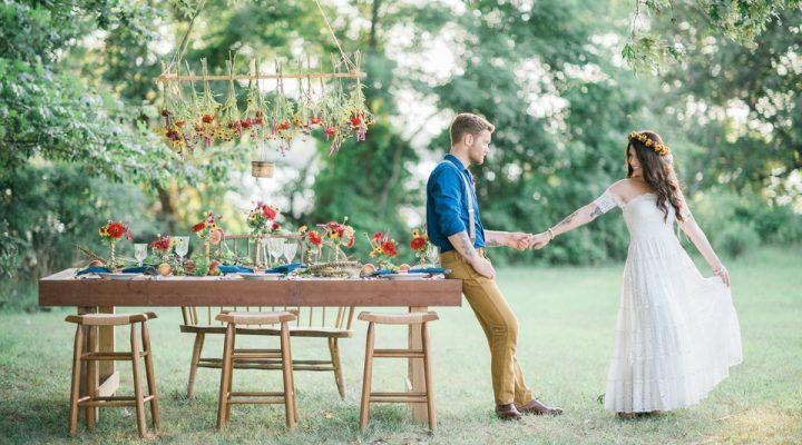 Foto Matrimonio Bohemien : Un matrimonio in stile boho look sposa